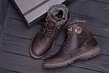 Мужские зимние кожаные ботинки ZG Clasic Brown Style, фото 10