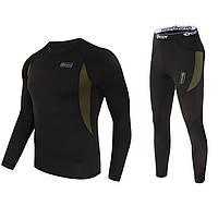 ➀Термобелье ESDY A152 XL Black мужское спортивное теплое нижнее белье стрейч ветрозащитное флисовое