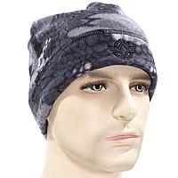 ✓Шапка для мужчин ESDY Y054 XL(60cm) Grey теплая зимняя походная флисовая для спортсменов непродуваемая