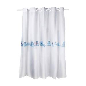 Плотная шторка для ванны и душа тканевая цвет белый Q-tapTessoroPA80155200х200 см