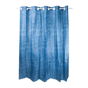 Плотная шторка для ванны и душа тканевая цвет синий Q-tapTessoroPA62232200х200 см