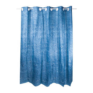 Шторкадляванны тканевая цвет синий Q-tapTessoroPA62232200х200 см