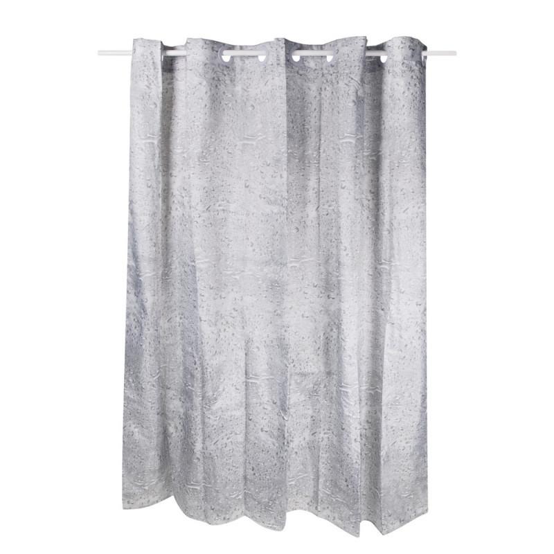 Плотная шторка для ванны и душа тканевая цвет серый Q-tap Tessoro PA62399 200х200 см