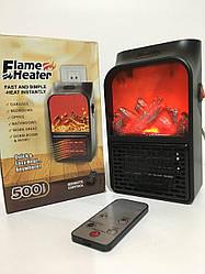 Портативный обогреватель FLAME HEATER с LCD дисплеем и имитацией камина+пульт 500 Вт
