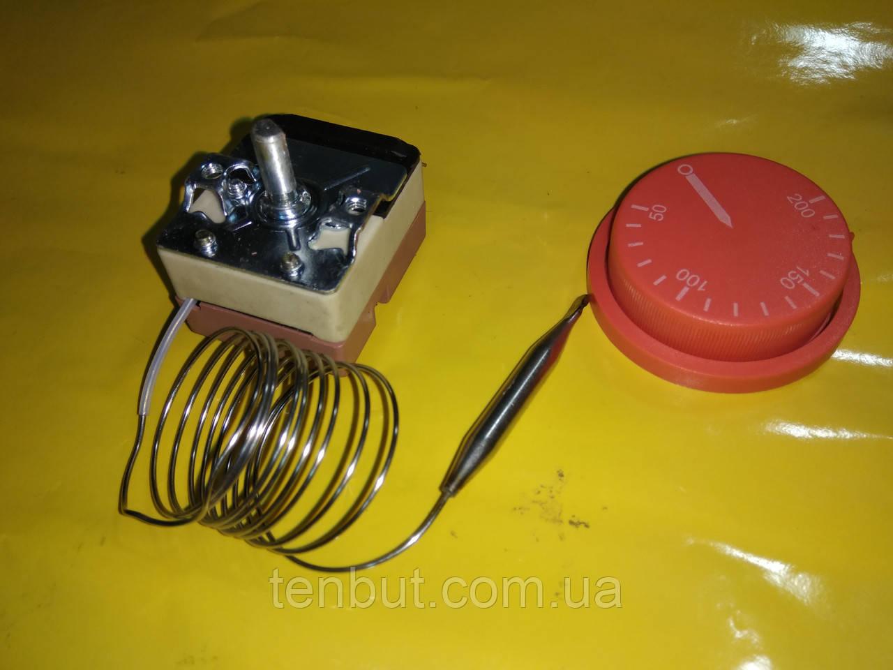 Терморегулятор для электро духовок и обогревателей 50-200 С° с капилляром 16 А / 250 В производство Китай
