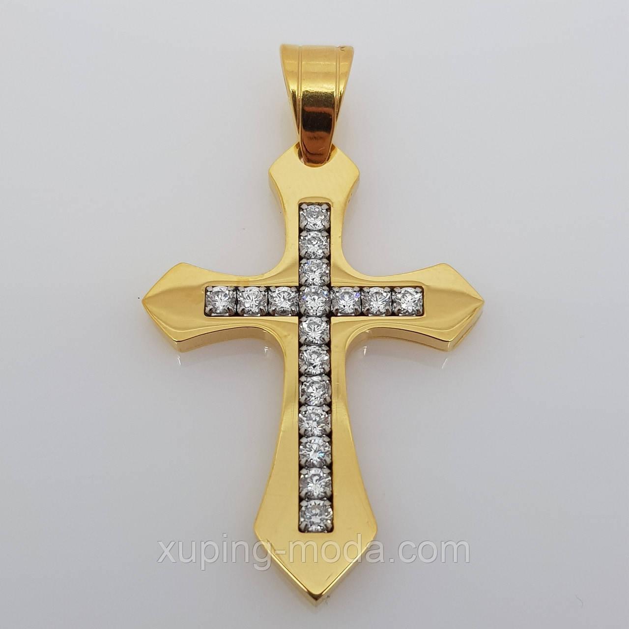 Маленький крестик позолоченный