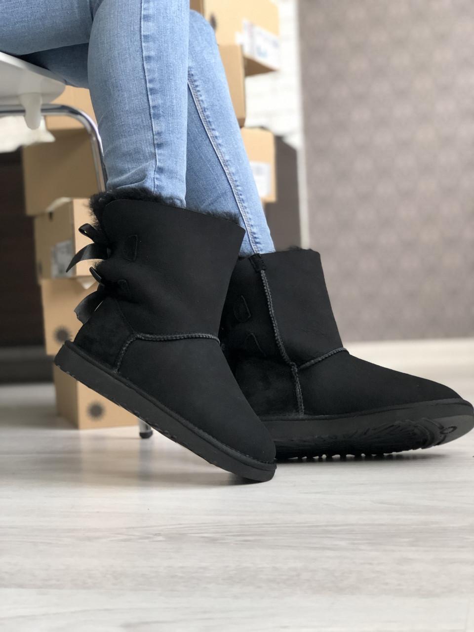 Угги женские UGG Bailey Bow Boots Black