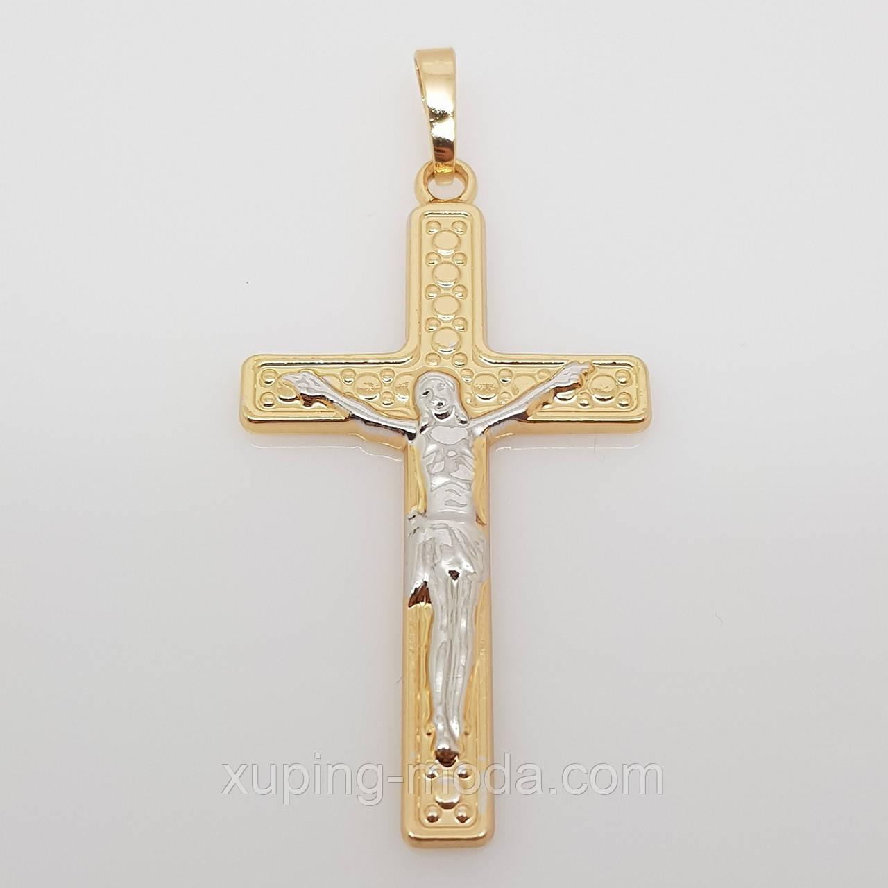 Тонкий крестик. Красивая бижутерия