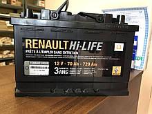 Акумуляторна батарея (70 А*год) Renault Scenic 2 (Original 7711238598)