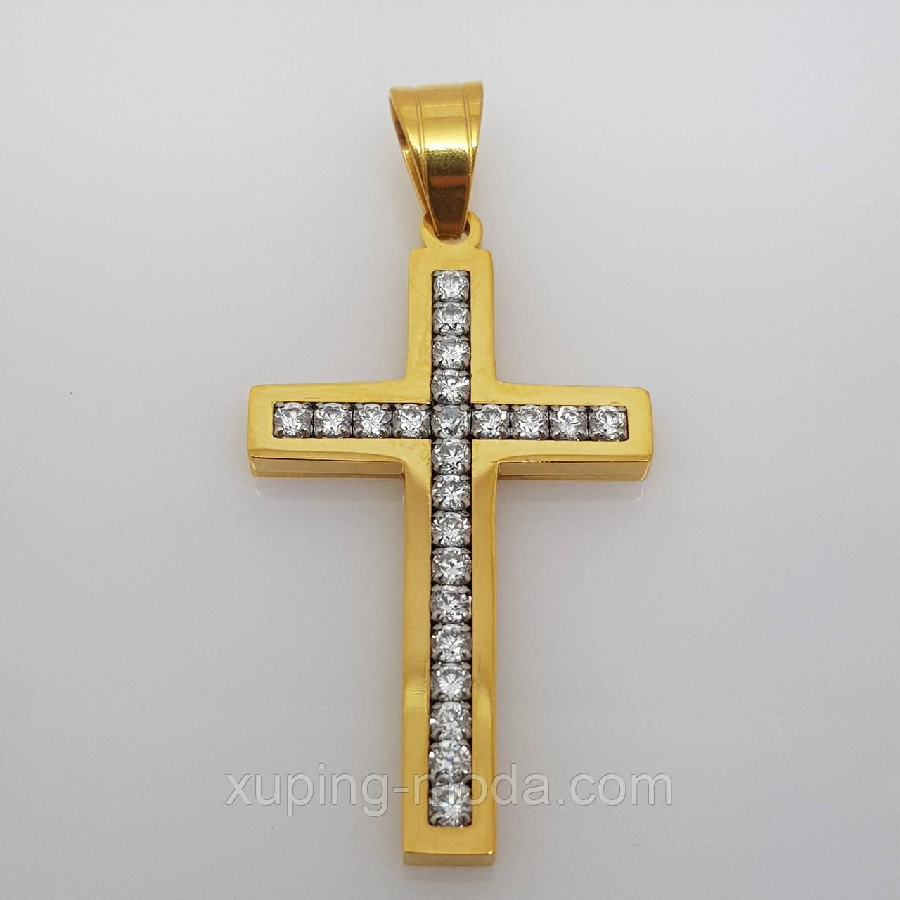 Красивый крестик с камнями. xp