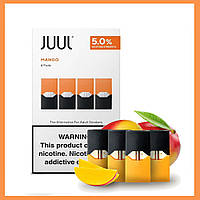 Картриджи Juul (Juul Pods) оригинал для электронной сигареты Джул.  Манго / Mango 50 Мг