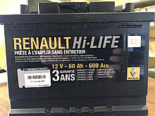 Акумуляторна батарея (50 А*год) Renault Logan (Original 7711238596)
