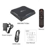 Смарт тв приставка X96 MAX Android 8.1 Amlogic 905X2 (RAM 4Gb / ROM 32Gb)
