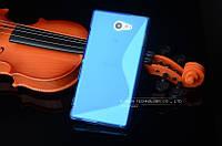 Силиконовый чехол Duotone для Sony M2 Aqua D2403 голубой