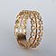 Золотое кольцо с фианитом. ГП20911, фото 3