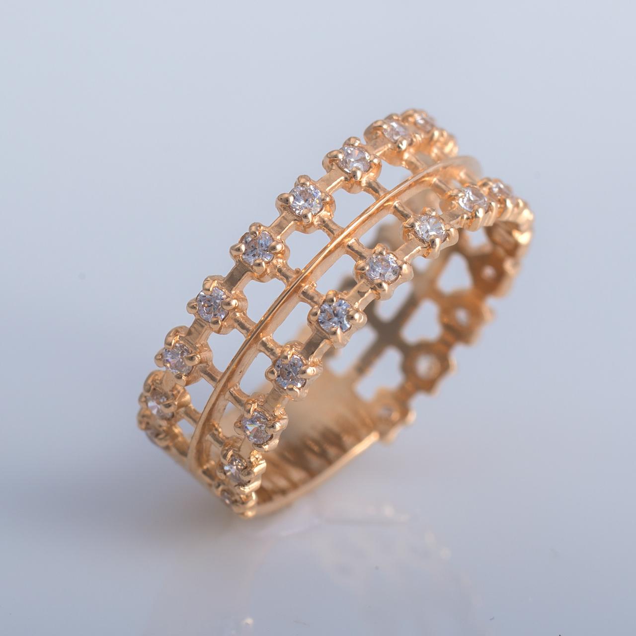 Золотое кольцо с фианитом. ГП20911