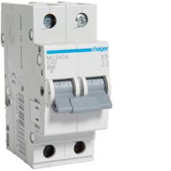 Автоматический выключатель 40А, 2п, С, 6 kA, hager, Франция, фото 2