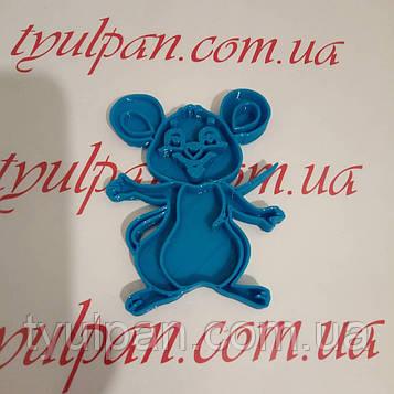 Вырубка мышка  Форма для пряника 12 см можно др.размер и  форму