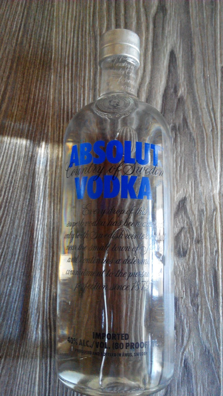 Водка Абсолют Стандарт / Absolut Standart 1л в стекле. Швеция