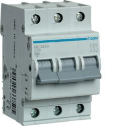 Автоматический выключатель 25 А, 3п, С, 6 kA, hager, Франция