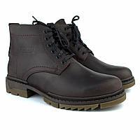 Зимние коричневые ботинки ручной работы обувь для мужчин из кожи Rosso Avangard Ultimate Crazy Brown