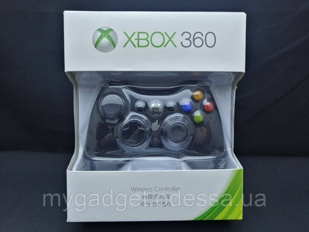 Беспроводной геймпад для Xbox 360 Wireless Controller Black