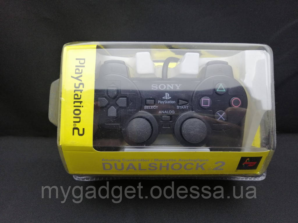 Проводной геймпад DualShock 2 для Sony PlayStation 2 (Черный)