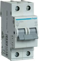 Автоматический выключатель 32А, 2п, С, 6 kA, hager, Франция, фото 2