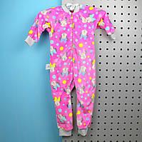 Спальник пижама вельсофт для девочки Минни маус размер  28, 30, 32, 34