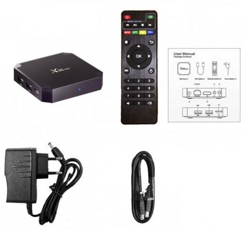 Смарт тв-приставка X96mini Smart TV BoxAmlogic 4-CORE (RAM 2Gb / ROM 16Gb)