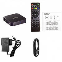 Смарт тв приставка X96mini Smart TV BoxAmlogic 4-CORE (RAM 2Gb / ROM 16Gb)