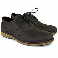Коричневые туфли мужские оксфорды броги кожаные Rosso Avangard Rizzi Brown демисезонные, фото 1