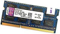Оперативная память для ноутбука Kingston SODIMM DDR3 4Gb 1600MHz 12800s CL11 (KTH-X3C/4G) Б/У, фото 1