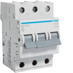 Автоматичний вимикач 6 А, 3п, B, 6 kA, hager, Франція