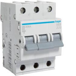 Автоматичний вимикач 6 А, 3п, B, 6 kA, hager, Франція, фото 2