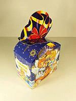Новогодняя коробка для конфет №011а(Бантик с ангелами 500гр) (25 шт)