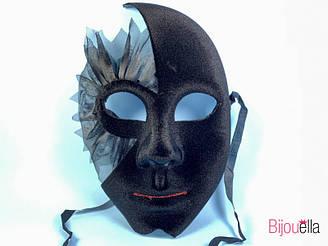 Маска бархатная с вырезом на все лицо для карнавала 17 см 23 см