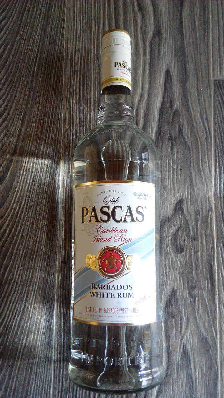 Ром белый Олд Паскас 37,5%..Барбадос. 1л, фото 1