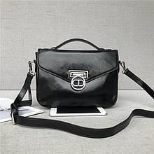 Сумка чемоданчик с ручкой гладкая / натуральная кожа арт. кт-897 Черный