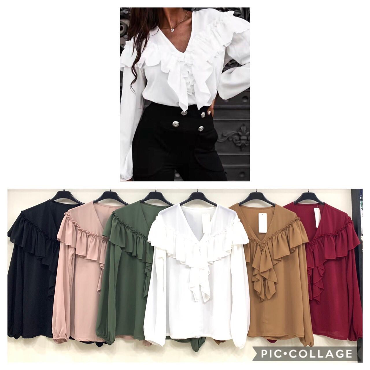 Стильная женская блузка шифон