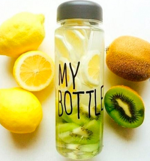 My Bottle - бутылка для напитков в чехле (Пластик! В белой коробке!), фото 1