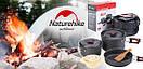 Туристический набор посуды Naturehike из анодированного алюминия. Туристическая сковородка, кастрюля., фото 4