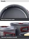 Туристический набор посуды Naturehike из анодированного алюминия. Туристическая сковородка, кастрюля., фото 5