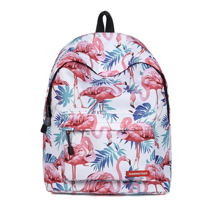 Городской женский рюкзак с принтом фламинго