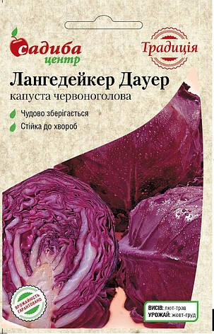 Акція Капуста червоноголова Лангедейкер Дауер, 0,5 г. СЦ Традиція, фото 2