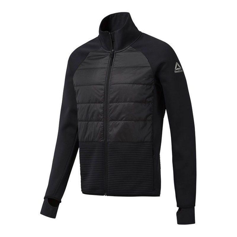 Олимпийка спортивная Reebok Thermowarm Padded CY4907 (черная, мужская, утепленная, на молнии, бренд рибок)