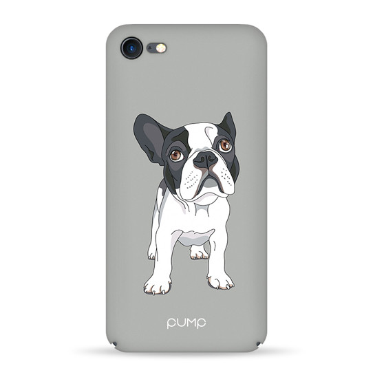 Pump Tender Touch Case чехол для iPhone 7/8 Mops On Gray