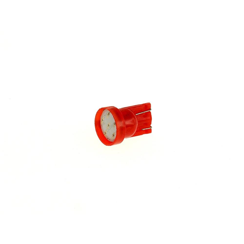 Светодиод 12В Красный W5W T10-072R COB 12V MJ