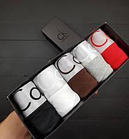 Подарочный набор мужских трусов Calvin Klein Steel в коробке 5 штук!