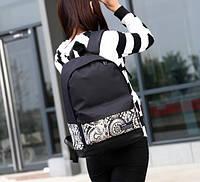 Рюкзак мужской женский городской с орнаментом  молодежный унисекс illustration